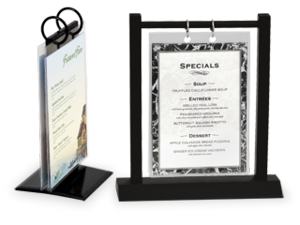 Menu Stands Restaurant Table Tents Table Stands And