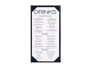 Bar and Bistro Menu Designs