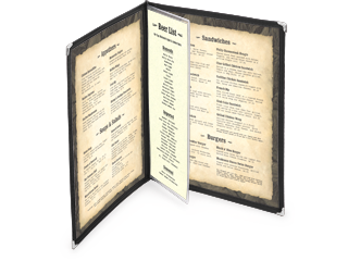 add on pages for menu covers