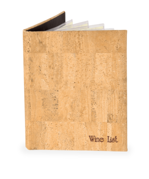 Cork Wine List Covers
