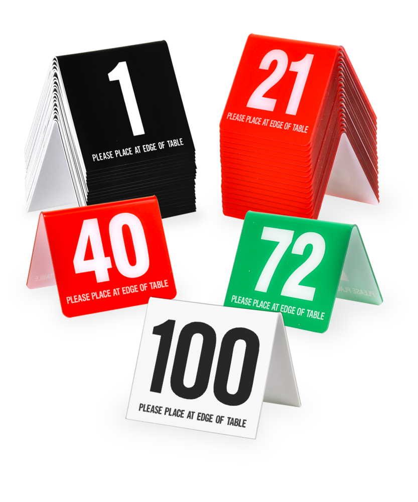 Table Number Tents Canreklonecco - Custom restaurant table numbers