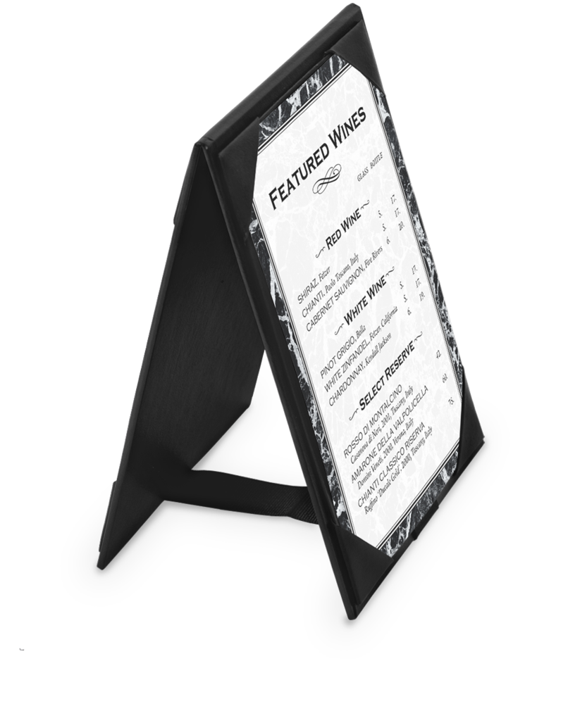 sc 1 st  The Menu Shoppe & Leatherette A-Frame Table Tents