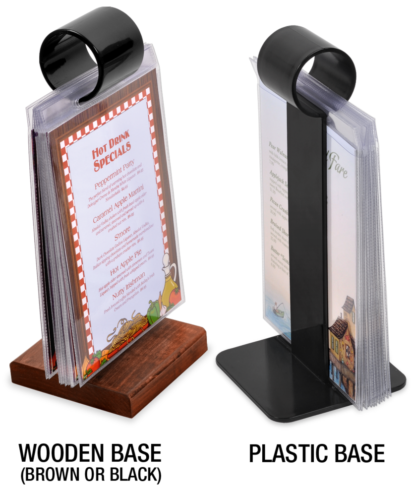 u0027Show Offu0027 Flip Stand Menu Holders LOW PRICE  sc 1 st  The Menu Shoppe & Menu Stands | Restaurant Table Tents | Table Stands and Card ...