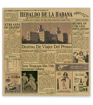 Heraldo de la Habana Cuban Newsprinted Tissue Liner
