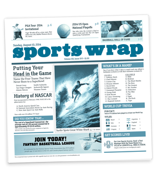 Sportswrap Newsprinted Tissue Liner