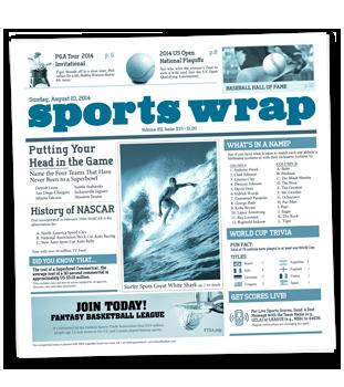 Sportswrap Newsprinted Tissue Liner