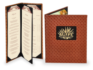 Faux Leather Basketweave Menu Covers image