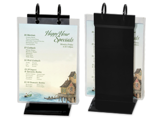 menu stands restaurant table tents table stands and card holders