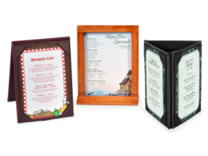 3 Sided Leatherette Table Tents