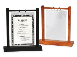 Hardwood Double Post  sc 1 st  The Menu Shoppe & Menu Stands | Restaurant Table Tents | Table Stands and Card ...