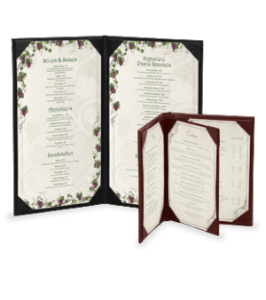 Casebound Menu Covers