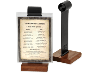 Menu Stands Restaurant Table Tents Table Stands And Card Holders - Restaurant table toppers