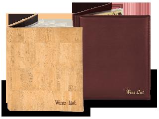 Casebound Wine List Cover