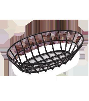 Oval Black Vinyl Coated Sandwich Basket