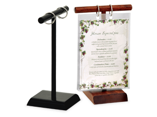 Menu Stands Restaurant Table Tents Table Stands And Card Holders - Flip top table tent
