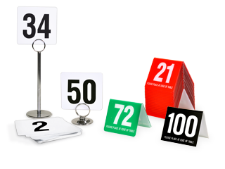 Restaurant Table Tents Table Numbers Table Number Stands - Restaurant table top sign holders