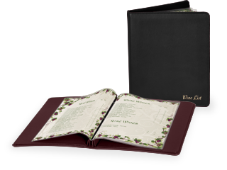Faux Leather Wine List Cover