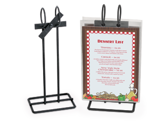 Menu Stands Restaurant Table Tents Table Stands And Card Holders - Restaurant table stands