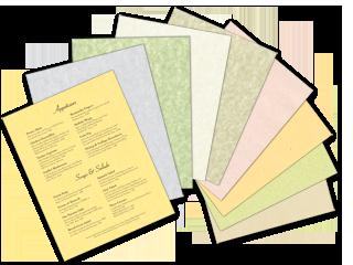 Blank Menu Paper image