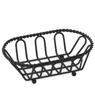 Small Black Powder Coated Braided French Basket