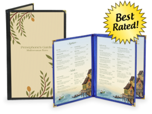 Deluxe Cafe Style Menu Covers image