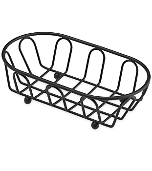 Small Black Powder Coated French Basket