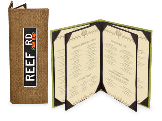 Natural Basketweave Menu Covers