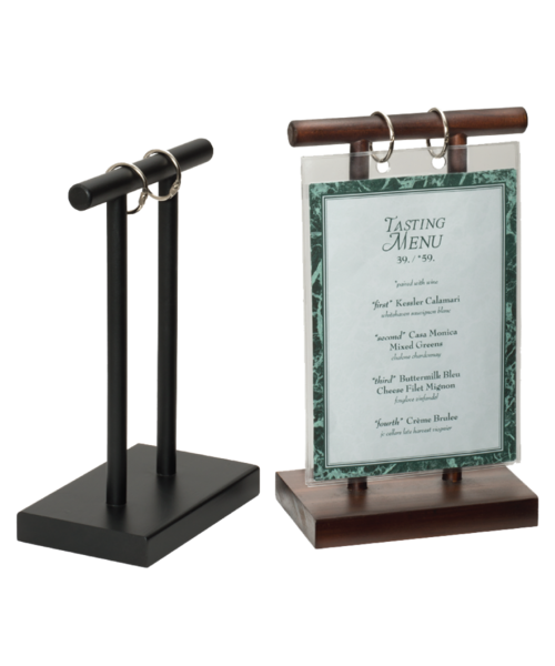 Wooden T Bar Flip Stand - Wooden table tents