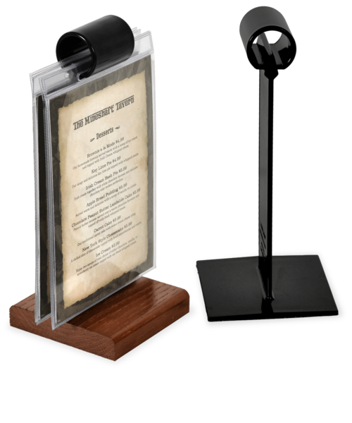 The Menu Roll(tm)  Flip Stand Card Holders