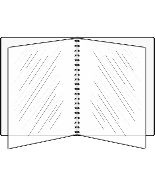 Quad Booklet Padded Menu Covers