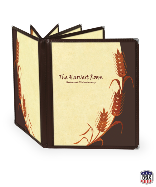 Twelve View Booklet Cafe Style Menu Covers