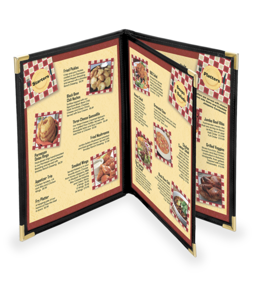 Triple Booklet Dynasty Menu Covers