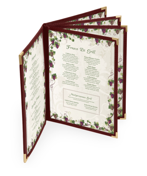 Eight View Dynasty Menu Covers
