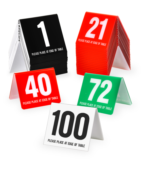 Table Number Tents