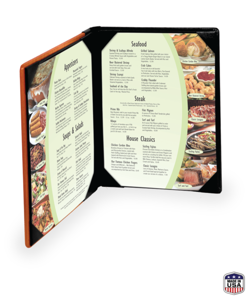 Double Wooden Menu Covers