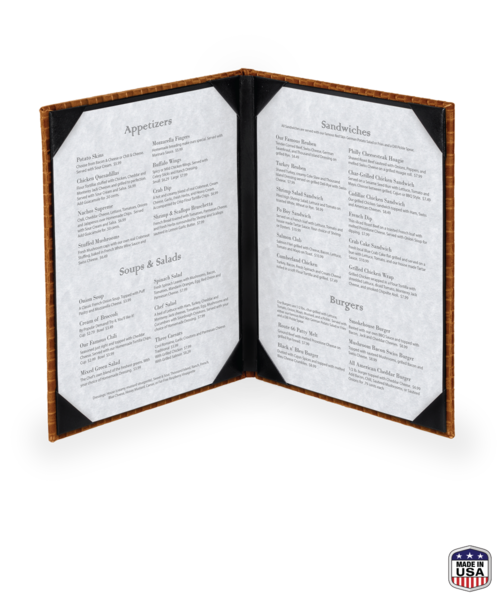 Double Basketweave Menu Cover