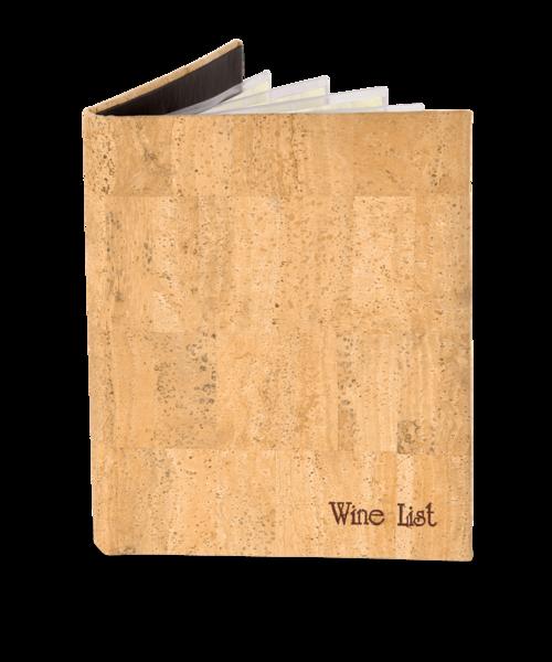 Genuine Cork Wine List Cover