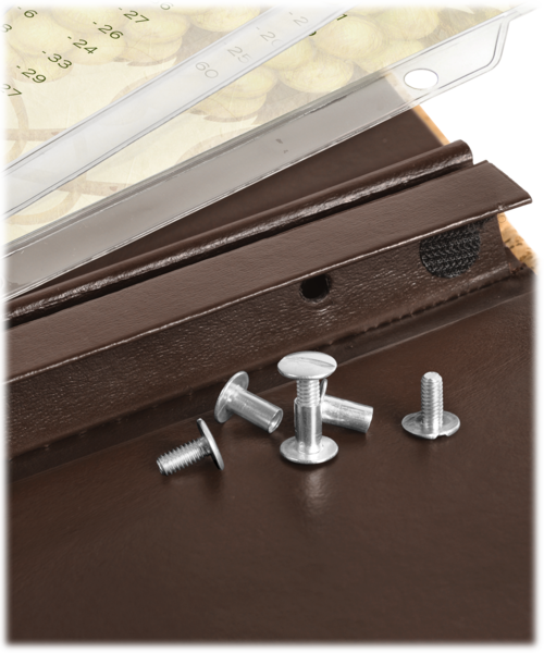 Screws and Posts for Wine Lists and Menu Covers