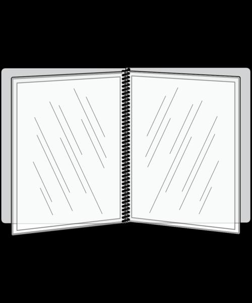 4 View Pajco Spiral Bound Menu Cover