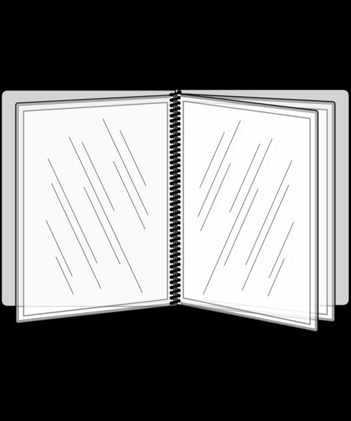 6 View Pajco Spiral Bound Menu Cover