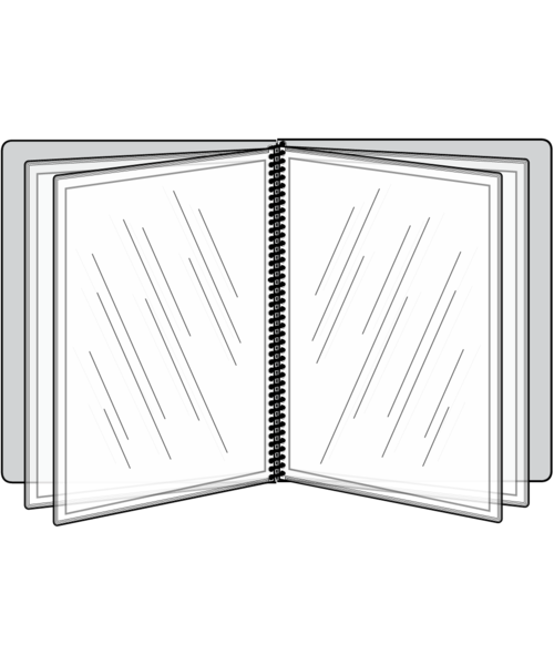 8 View Pajco Spiral Bound Menu Cover