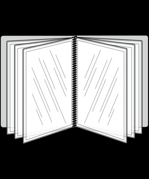 12 View Pajco Spiral Bound Menu Cover