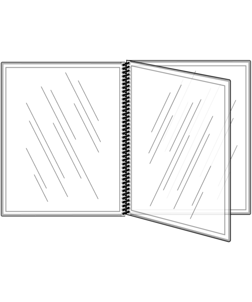 6 View All Clear Spiral Bound Menu Cover