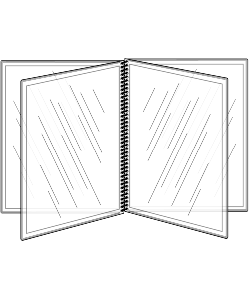 8 View All Clear Spiral Bound Menu Cover