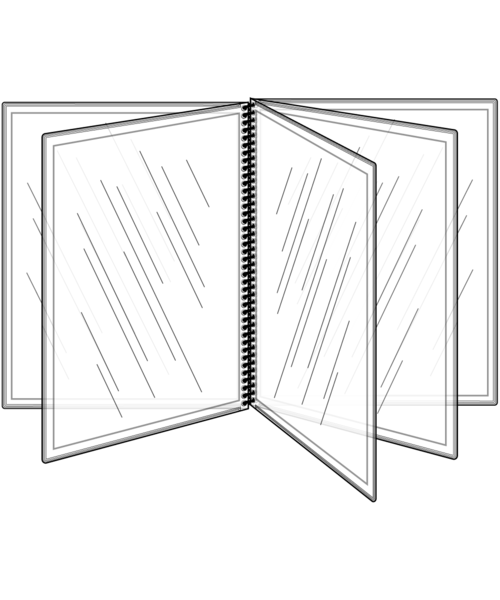 10 View All Clear Spiral Bound Menu Cover