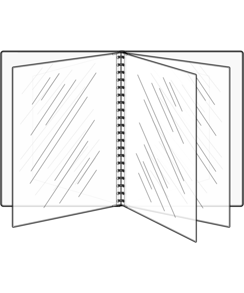 Eight View Booklet Padded Menu Covers