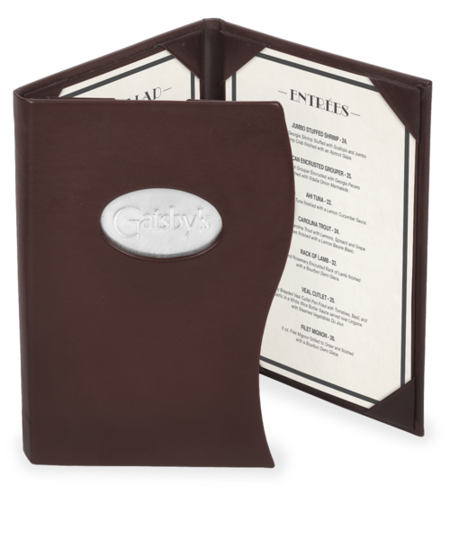 Custom Shaped Bistro and Bar Menu Cover