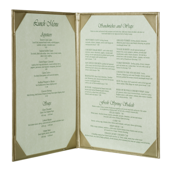 Double Brushed Metallic Menu Covers (Two View)