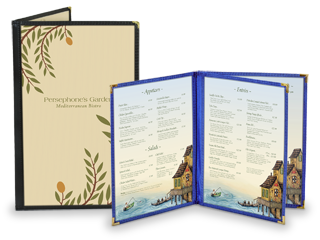 Image Sewn Edge Menu Covers With a Difference