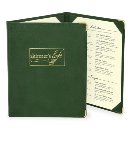 Triple Imitation Leather Menu Covers
